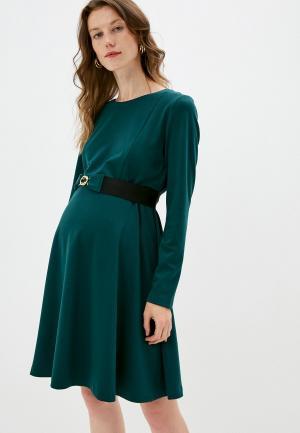 Платье Pietro Brunelli Maternity. Цвет: зеленый