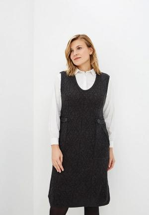 Сарафан Milana Style. Цвет: серый