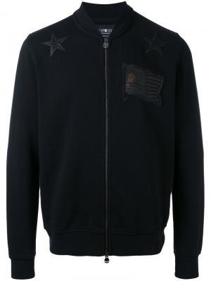 Куртка с нашивками Hydrogen. Цвет: чёрный