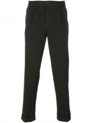 Классические брюки чинос Aspesi. Цвет: зелёный