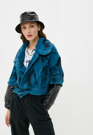 Куртка джинсовая Dali. Цвет: синий