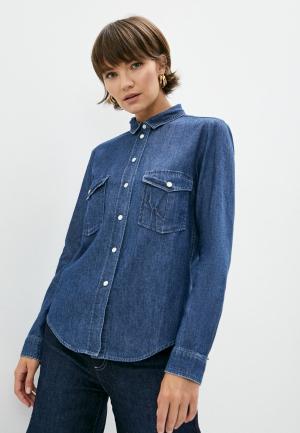 Рубашка джинсовая Max&Co. Цвет: синий