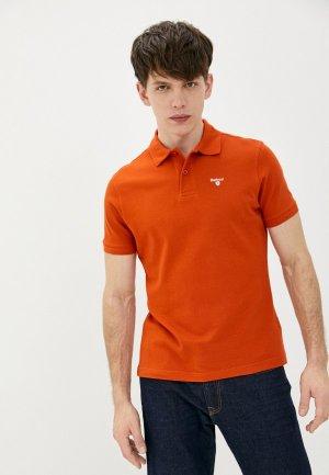 Поло Barbour. Цвет: оранжевый