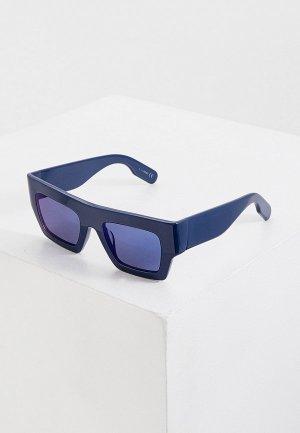 Очки солнцезащитные Kenzo. Цвет: синий