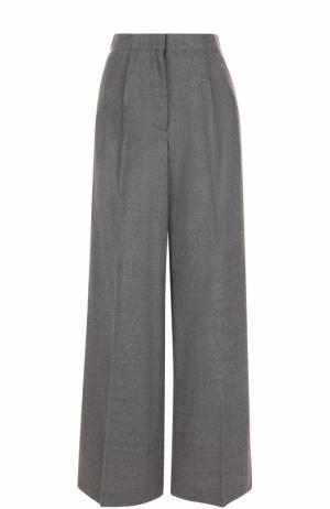 Однотонные шерстяные брюки со стрелками Elizabeth and James. Цвет: серый