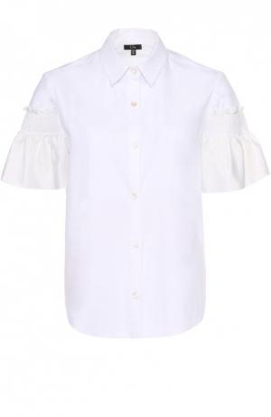 Блуза прямого кроя с шелковой отделкой Clu. Цвет: белый