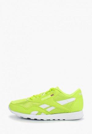 Кроссовки Reebok Classic. Цвет: зеленый