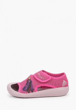 Сандалии adidas. Цвет: розовый