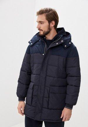 Куртка утепленная Armani Exchange. Цвет: синий