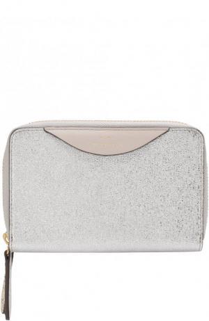 Кожаный кошелек с отделениями на молниях Anya Hindmarch. Цвет: золотой