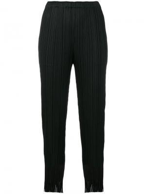 Плиссированные брюки с завышенной талией Pleats Please By Issey Miyake. Цвет: чёрный
