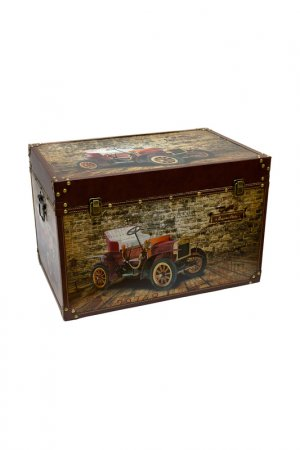 Коробка для хранения ГЛАСАР. Цвет: коричневый