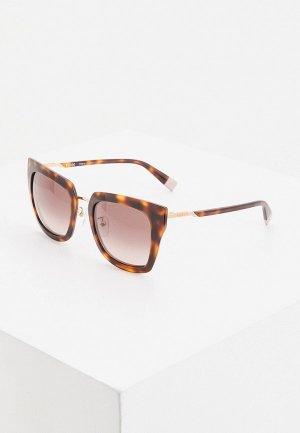 Очки солнцезащитные Furla. Цвет: коричневый