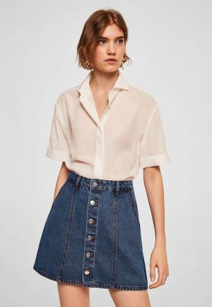Юбка джинсовая Mango. Цвет: синий