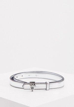 Ремень Karl Lagerfeld. Цвет: серебряный