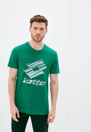 Футболка Lotto. Цвет: зеленый
