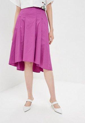 Юбка Baon. Цвет: фиолетовый