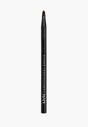 Кисть для губ Nyx Professional Makeup. Цвет: черный