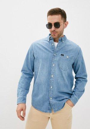 Рубашка джинсовая Lee. Цвет: голубой