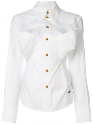 Рубашка с большими карманами Vivienne Westwood. Цвет: белый