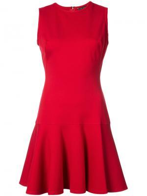 Мини-платье с расклешенным подолом Black Halo. Цвет: красный