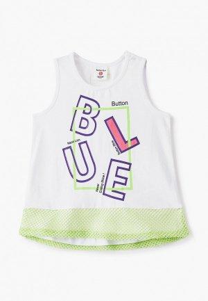 Майка Button Blue. Цвет: белый