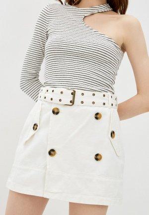 Юбка джинсовая adL. Цвет: белый