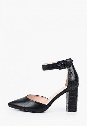 Босоножки Ideal Shoes. Цвет: черный