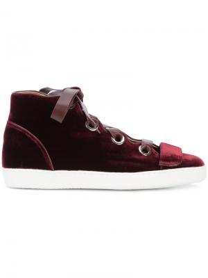 Velvet Serena High Top Sneaker Derek Lam. Цвет: красный