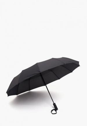 Зонт складной Finn Flare. Цвет: черный