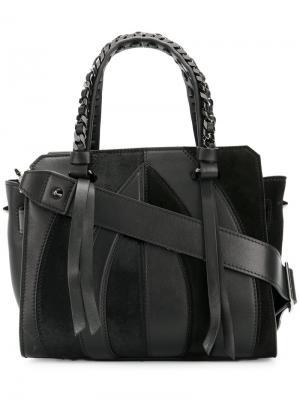 Маленькая сумка-тоут Usonia Elena Ghisellini. Цвет: чёрный