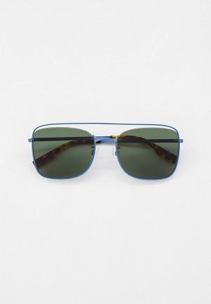 Очки солнцезащитные McQ Alexander McQueen. Цвет: синий