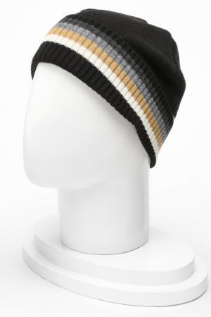 Комплект: шапка с шарфом IceBoys. Цвет: черный