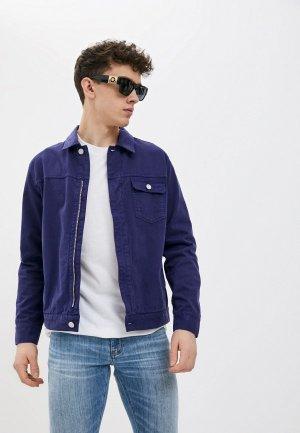 Куртка джинсовая French Connection. Цвет: фиолетовый