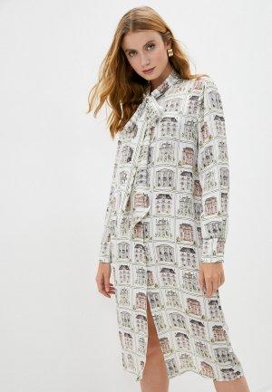 Платье LAutre Chose L'Autre. Цвет: белый