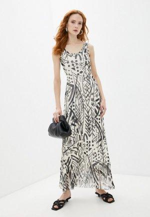 Платье Fuzzi. Цвет: бежевый