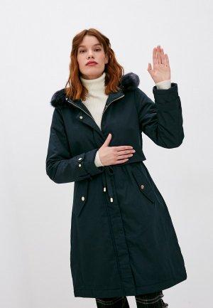 Куртка утепленная Twinset Milano. Цвет: синий