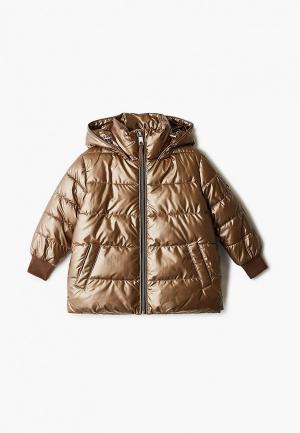 Куртка утепленная Gulliver. Цвет: золотой