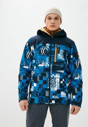 Куртка сноубордическая Quiksilver. Цвет: синий