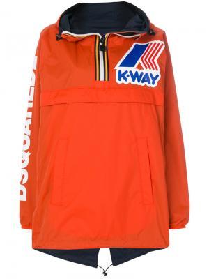 Анорак K-Way Dsquared2. Цвет: жёлтый и оранжевый