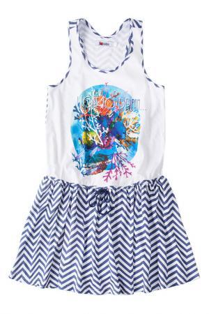 Платье I LOVE TO DREAM. Цвет: синий
