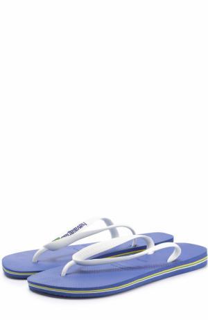 Резиновые шлепанцы Havaianas. Цвет: синий