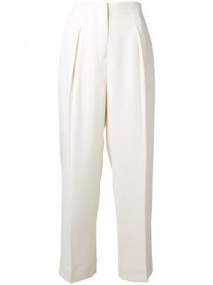 Прямые брюки Elizabeth And James. Цвет: белый
