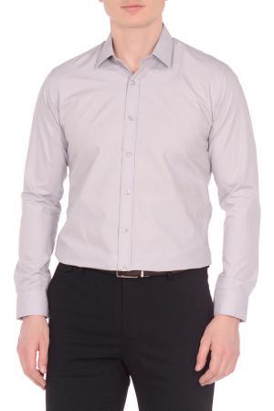 Рубашка KarFlorens. Цвет: светло-серый
