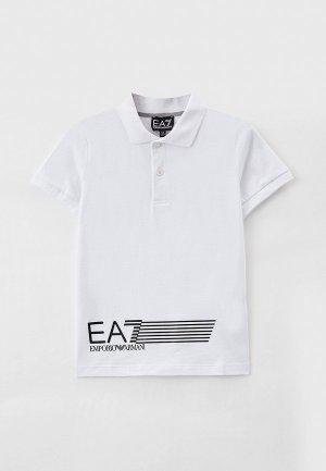 Поло EA7. Цвет: белый