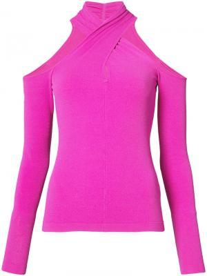 Топ с лямками крест-накрест вокруг шеи Milly. Цвет: розовый и фиолетовый