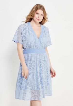 Платье LOST INK PLUS. Цвет: голубой