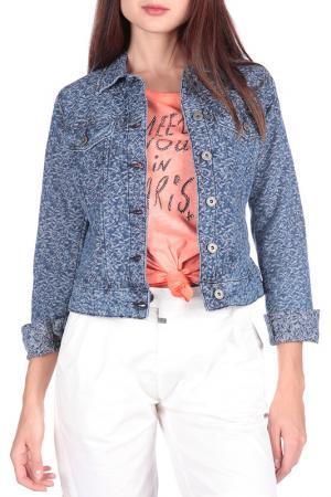 Джинсовая куртка FREESOUL. Цвет: голубой