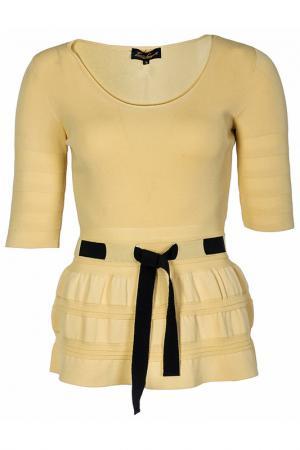 Пуловер LUISA SPAGNOLI. Цвет: желтый