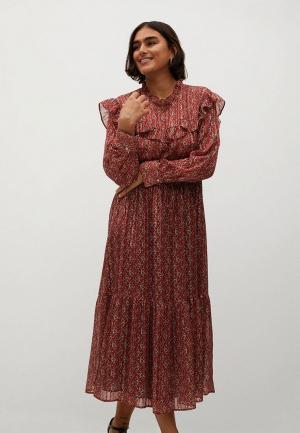 Платье Violeta by Mango. Цвет: коричневый
